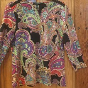 Three quarter length sleeve blouse.